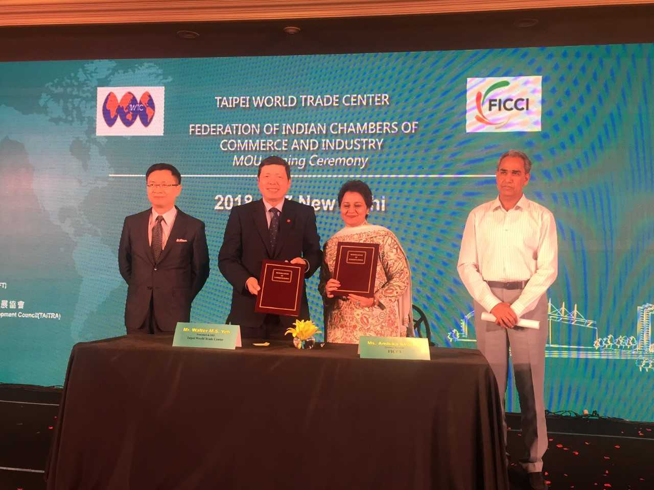 MoU signed between FICCI and TAITRA during the Opening Ceremony of TAITRA