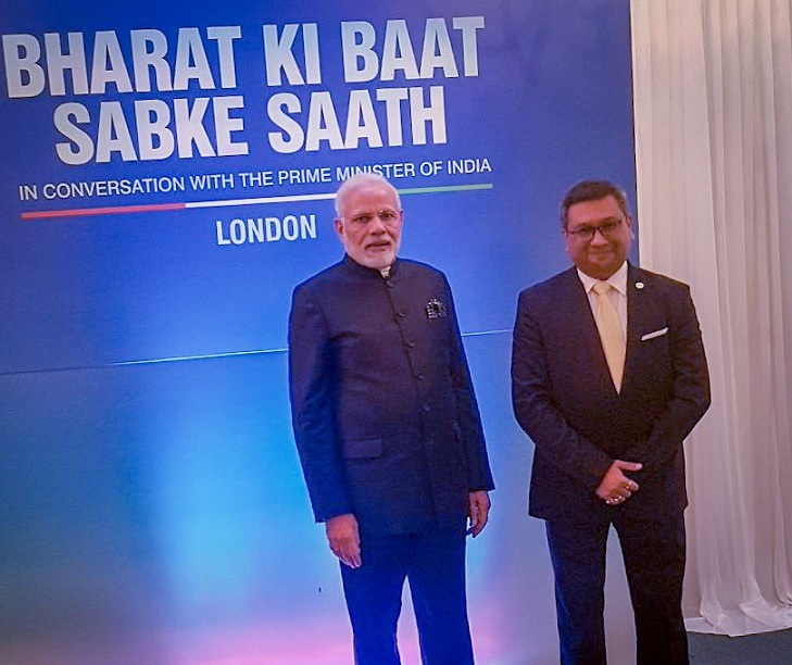 Youth Diaspora Leaders Meet: Dr Param J Shah with Prime Minister Narendra Modi