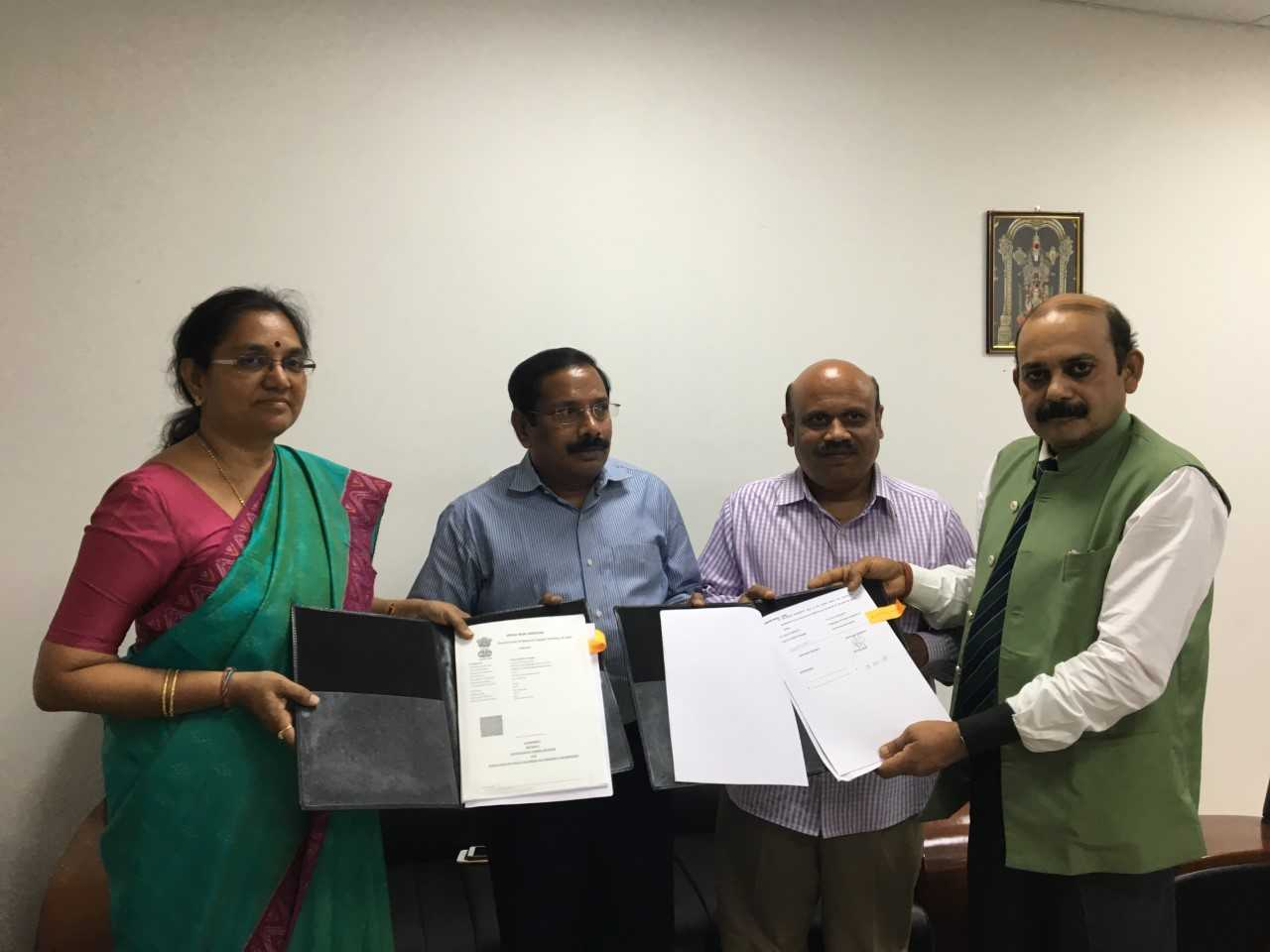 XLr8AP Phase 2 Agreement Signing Ceremony between FICCI and Andhra Pradesh Innovation Society, Govt of Andhra Pradesh