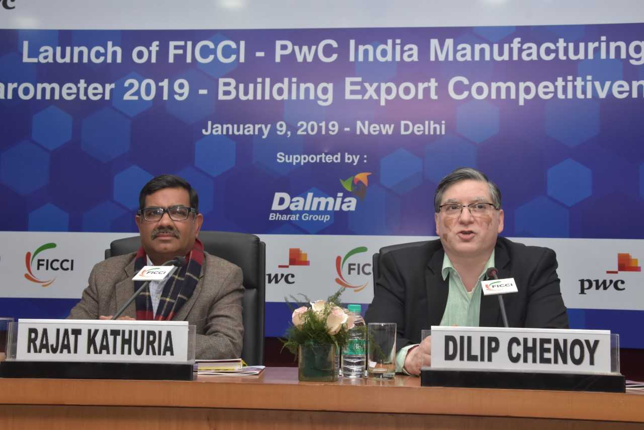 Launch of FICCI-PwC India Manufacturing Barometer 2019 - Building Export Competitiveness