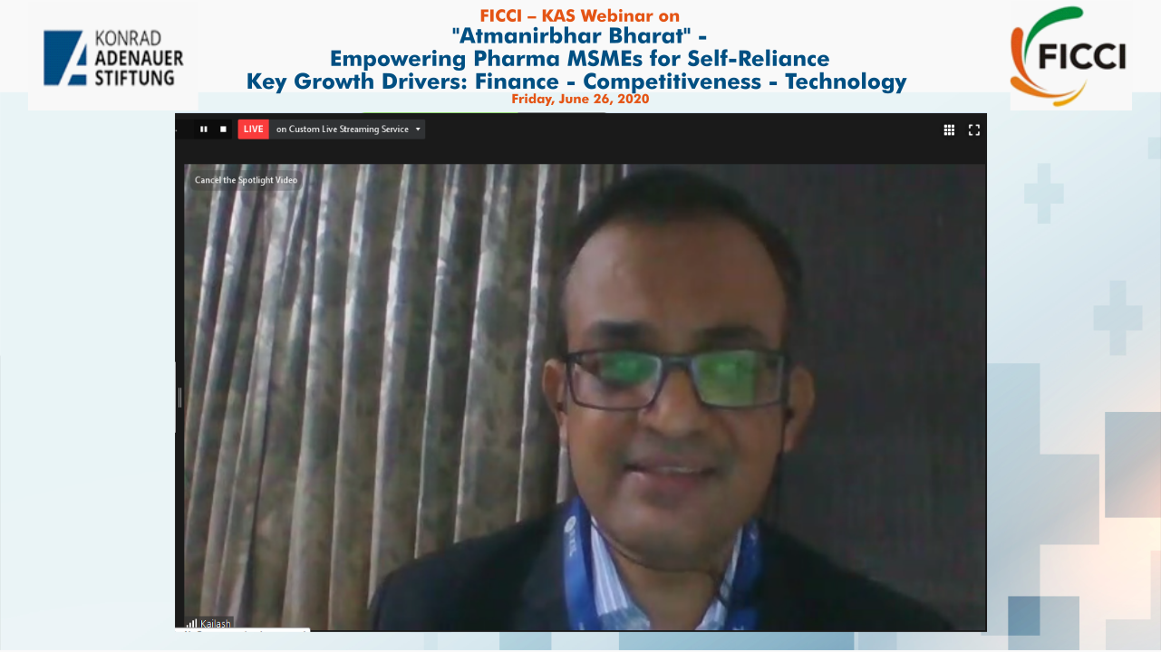 FICCI KAS Webinar on Aatmnirbhar Bharat-Empowering Pharmaceuticals MSMEs for Self-reliance