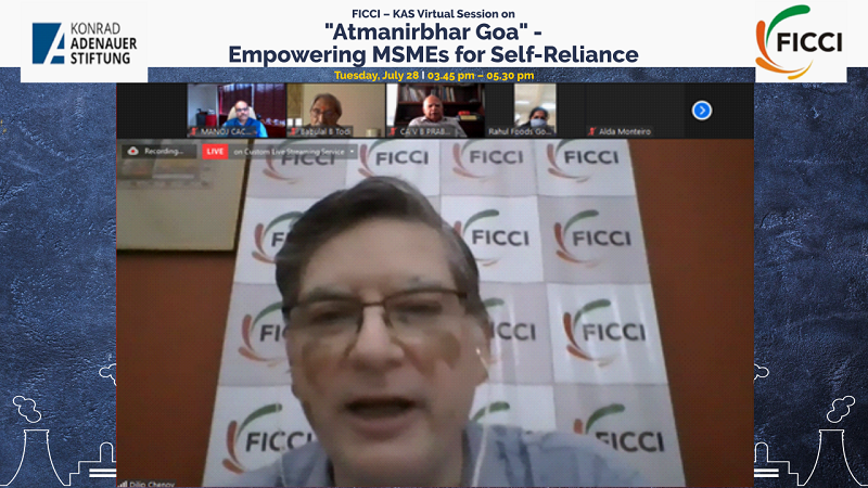 FICCI-KAS Virtual Session on Atmanirbhar Goa – Empowering MSMEs for Self-Reliance