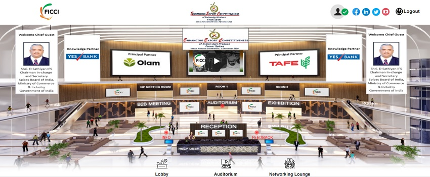 Virtual national Conference on Enhancing Export competitiveness of Spices